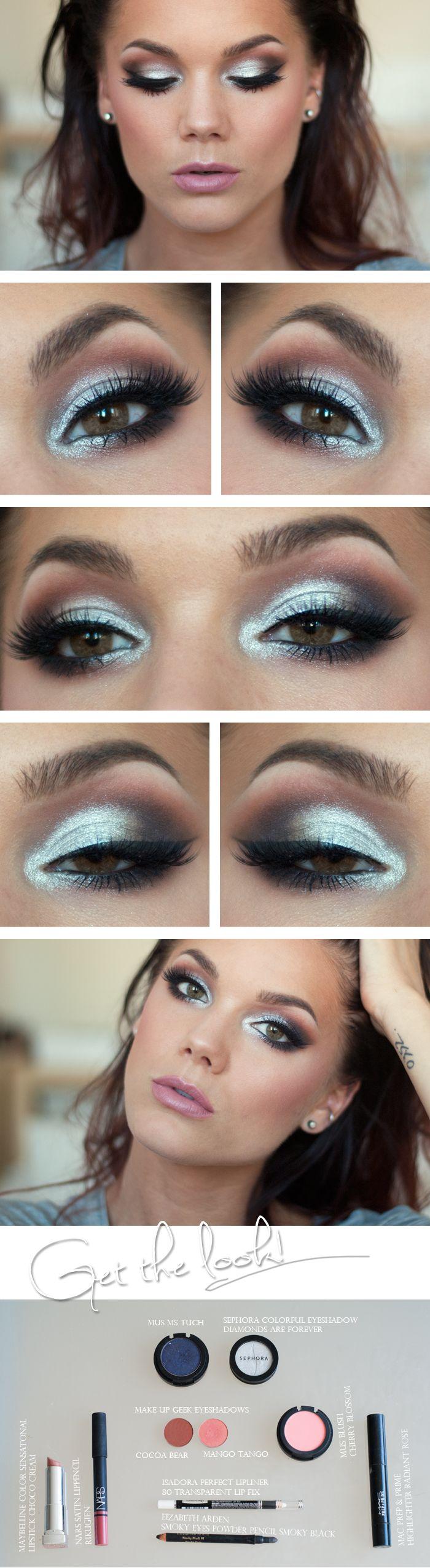 макияж глаз пошаговое фото