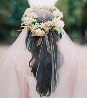 свадебные прически под фатой