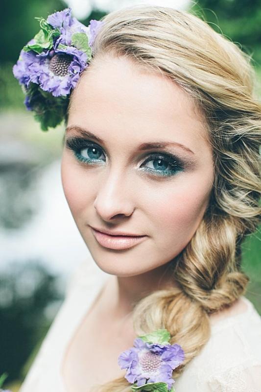 Свадебный макияж для блондинок с зелеными глазами